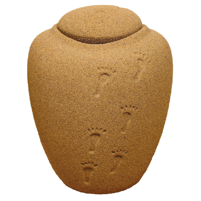 Image of biodegradable urn kindly shared by UrnsForAshes.co.uk