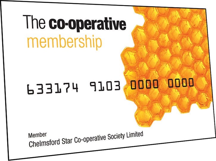 Register as a Member and receive share of our profits on your purchases from Chelmsford Star Co-op.